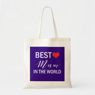Bolsa Tote A melhor mãe na sacola do dia das mães do mundo