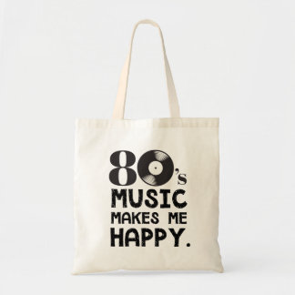 Bolsa Tote a música 80S faz-me feliz