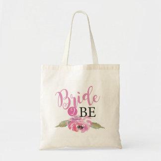 Bolsa Tote A noiva cor-de-rosa 2 seja ao artigo floral do