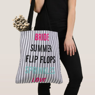 Bolsa Tote A noiva do verão polvilha a sacola do partido