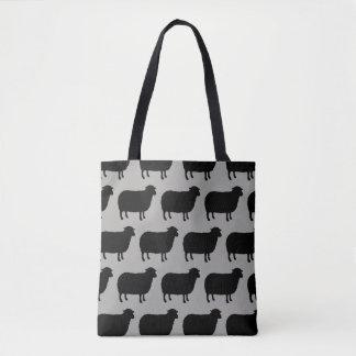 Bolsa Tote A ovelha negra mostra em silhueta o teste padrão