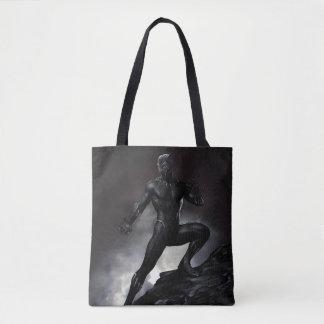 Bolsa Tote A pantera preta   agarra para fora