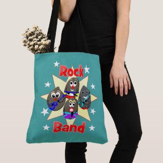 Bolsa Tote A pintura engraçada da rocha do grupo de rock