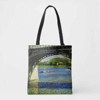 Bolsa Tote A ponte em Argenteuil e no Seine