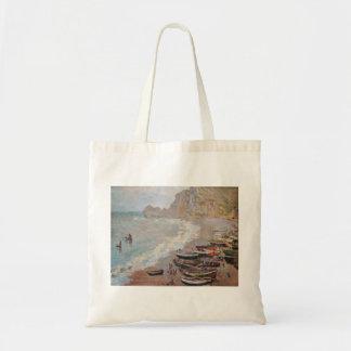 Bolsa Tote A praia em Etretat - Claude Monet