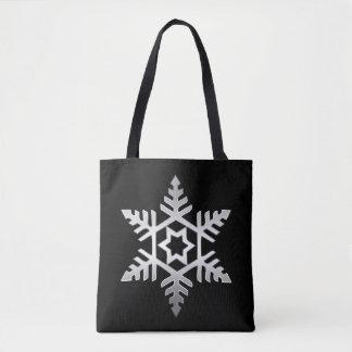 Bolsa Tote A primeira sacola do Natal do floco de neve