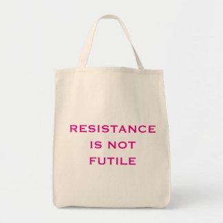 Bolsa Tote A resistência não é inútil