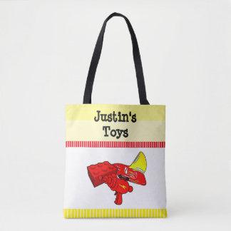 Bolsa Tote A sacola da criança personalizada para brinquedos