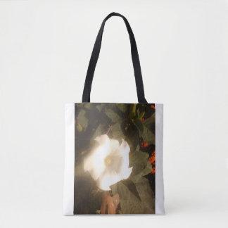 Bolsa Tote A sacola da flor branca