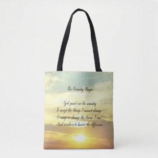 Bolsa Tote A sacola da oração da serenidade