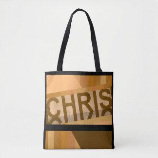 Bolsa Tote A sacola de Chris - Earthtones no preto