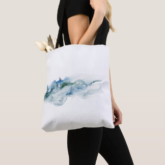 Bolsa Tote A sacola enevoada do Watercolour da ilha
