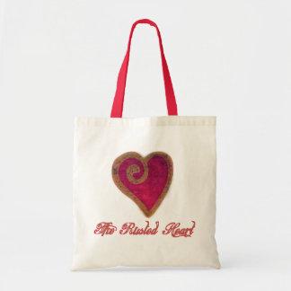 Bolsa Tote A sacola oxidada do coração