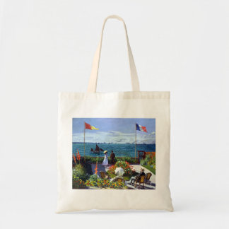Bolsa Tote À Sainte-Adresse de Jardin por Claude Monet