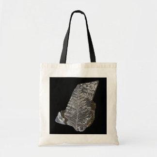 Bolsa Tote A samambaia fossilizada deixa a foto no preto