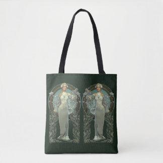 Bolsa Tote A senhora branca de Nouveau da arte toda sobre -
