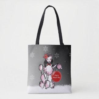 Bolsa Tote A senhora Caniche mostra seus desejos do Natal!