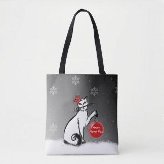 Bolsa Tote A senhora Gato mostra seus desejos do Natal!