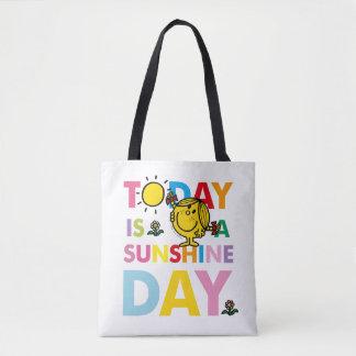 Bolsa Tote A senhorita pequena Luz do sol   é hoje um dia da