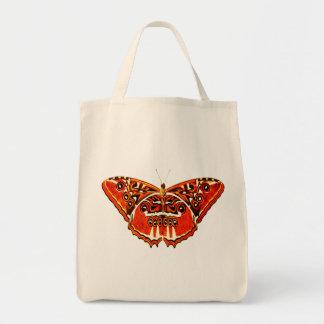 Bolsa Tote A traça aciganada, oxida laranja e preto