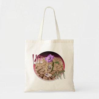 Bolsa Tote A vida é arte, saco gráfico. Leve suas fontes:)