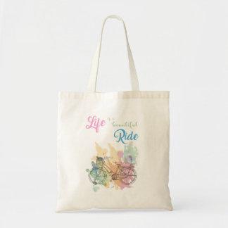 Bolsa Tote A vida é uma sacola bonita do passeio