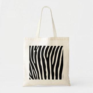 Bolsa Tote A zebra listra o teste padrão