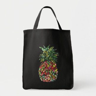 Bolsa Tote Abacaxi Sequined do falso psicadélico Groovy