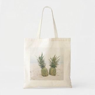 Bolsa Tote Abacaxis e sacola da cena da praia