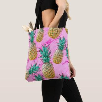 Bolsa Tote Abacaxis tropicais & colorido moderno de mármore