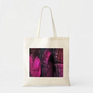 Bolsa Tote Abadia de Whitby no gótico magenta dos arcos