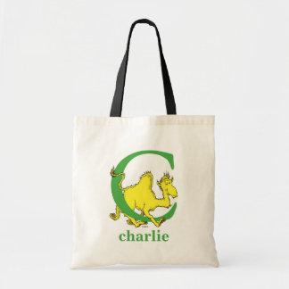 Bolsa Tote ABC do Dr. Seuss: Letra C - O verde | adiciona seu