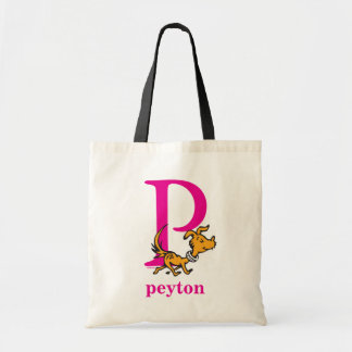 Bolsa Tote ABC do Dr. Seuss: Letra P - O rosa | adiciona seu