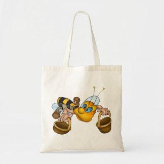 Bolsa Tote Abelha com sacola dos baldes