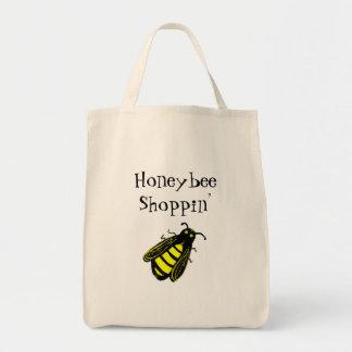 Bolsa Tote Abelha preta e amarela bonito com texto do