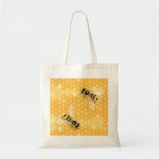 Bolsa Tote Abelhas na sacola dos favos de mel