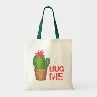 Bolsa Tote ABRACE-ME sacola verde espinhosa da planta da flor