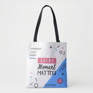 Bolsa Tote Abstraia cada sacola das citações das matérias do