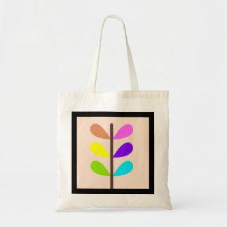 Bolsa Tote Abstrato colorido da planta