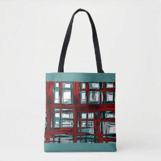 Bolsa Tote Abstrato em vermelho e em azul