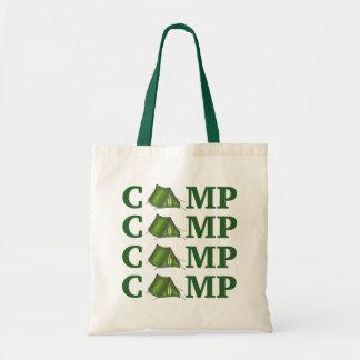 Bolsa Tote Acampamento de verão verde da barraca do
