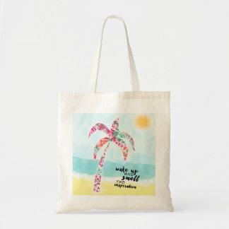 Bolsa Tote acorde e cheire a inspiração, a praia e a palma