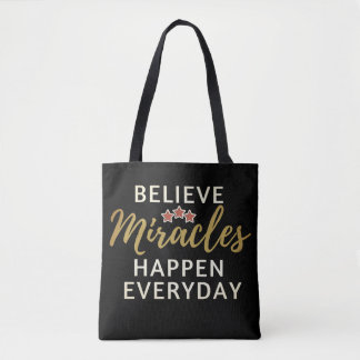 Bolsa Tote Acredite, milagre acontecem sacola diária