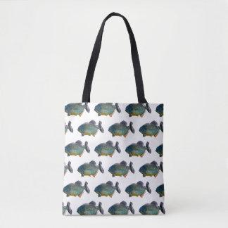 Bolsa Tote Agitação do Piranha por todo o lado no saco do