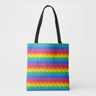 Bolsa Tote Agitando o arco-íris