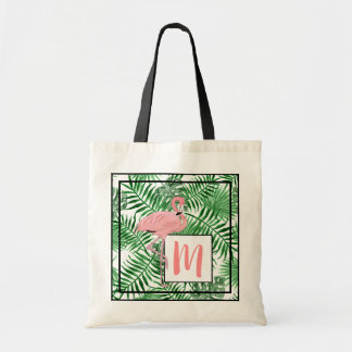 Bolsa Tote Aguarela cor-de-rosa bonito do flamingo do