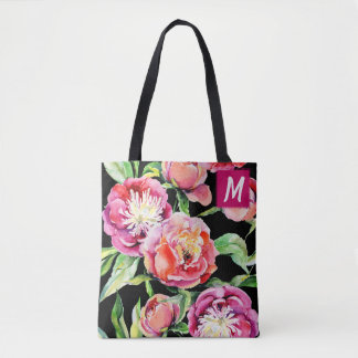 Bolsa Tote Aguarela cor-de-rosa feita sob encomenda das