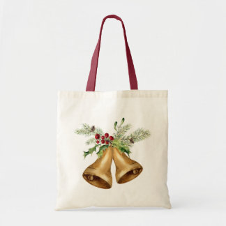 Bolsa Tote Aguarela do Natal | - visco & Bels do azevinho