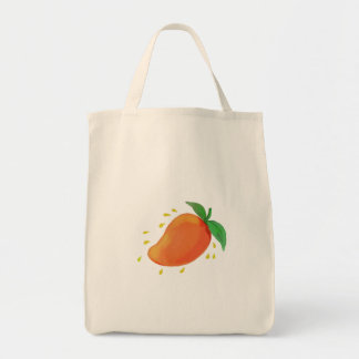 Bolsa Tote Aguarela suculenta da fruta da manga