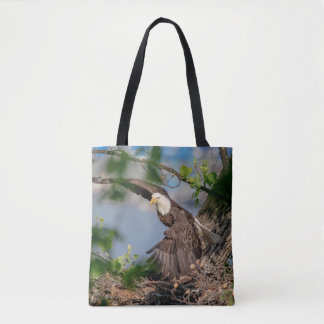 Bolsa Tote Águia americana que sae do ninho